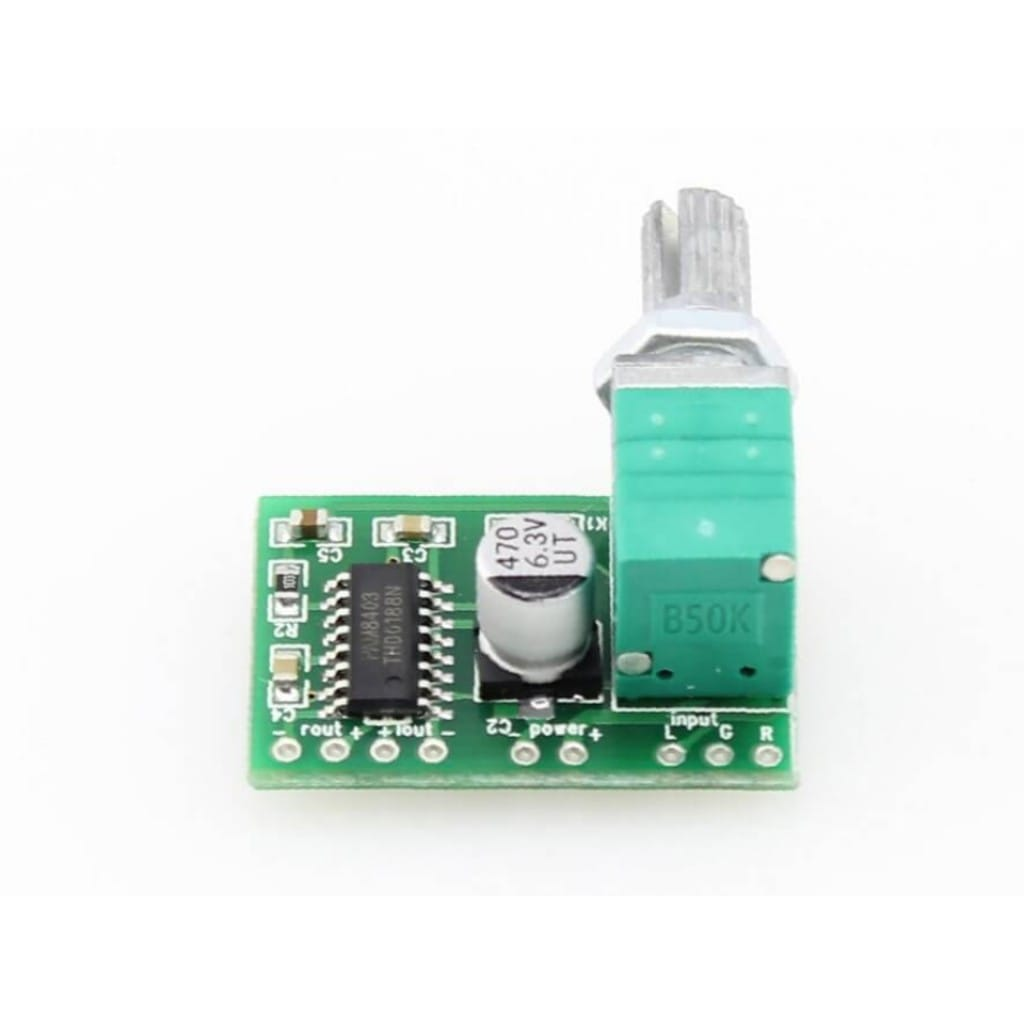Audio Amplifier PAM8403 with Volume Control