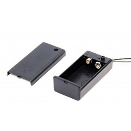 9V battery holder with switch & 5.5mm 2.1mm plug