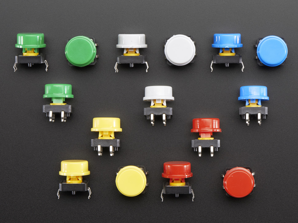 Button Colorful Round Tactile Switch Assortment 15 pack
