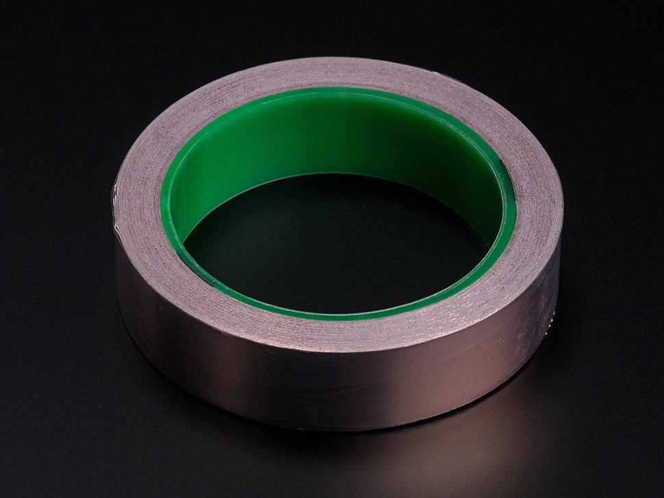 Copper Foil Tape with Conductive Adhesive - 25mm x 25 meter roll