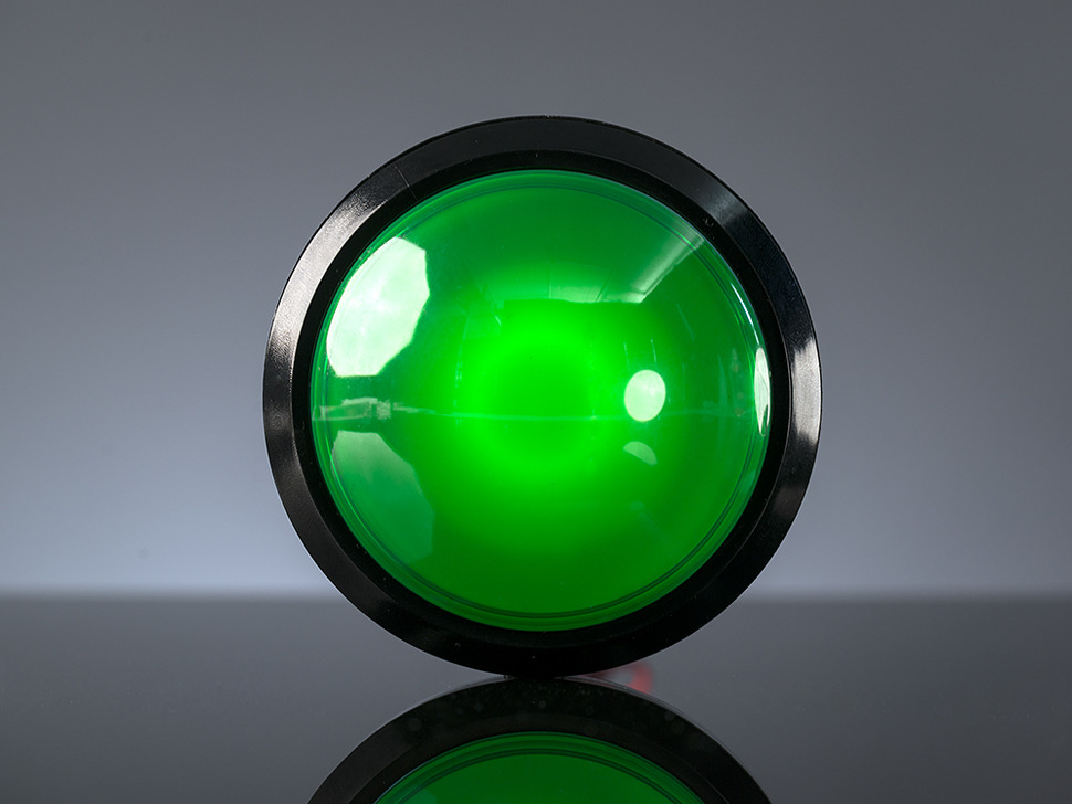 Arcade Massive Button with LED 100mm Green