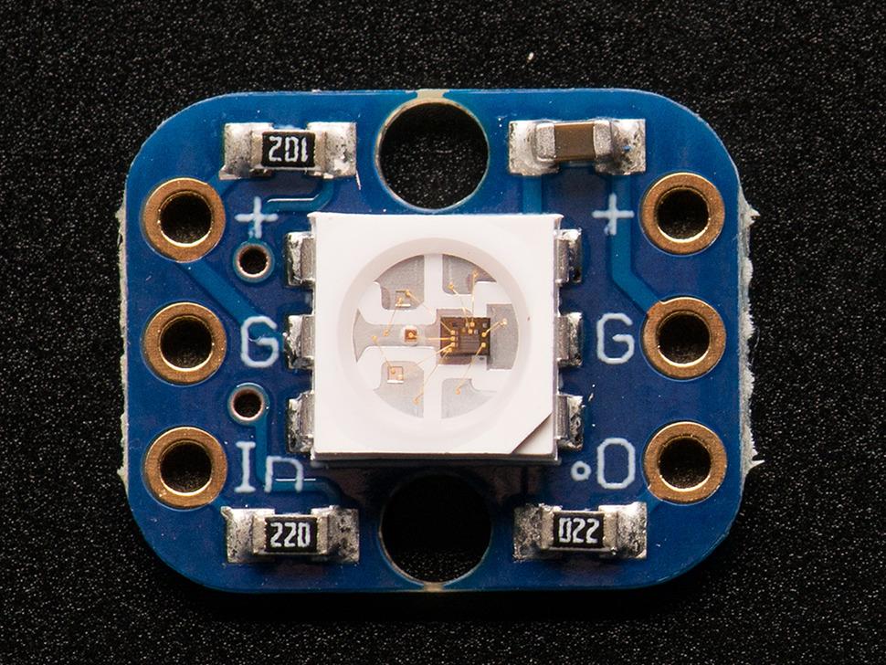 RGB Smart NeoPixel Breadboard-friendly Pack of 4
