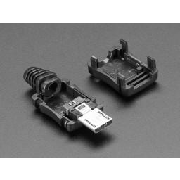 USB DIY Connector Shell - Type Micro-B Plug
