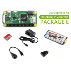 Raspberry Pi Zero WH Package E with 2.13inch e-Paper HAT