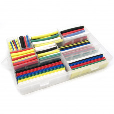 Heat Shrink Pack Tubing Multi-Colored 385 PCS