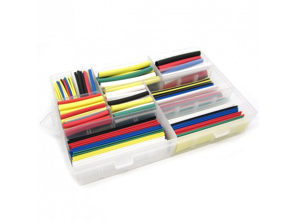 Heat Shrink Pack Tubing Multi-Colored 385 PCS