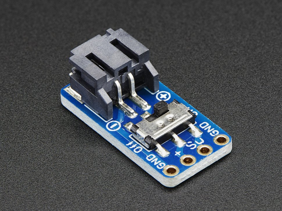 JST-PH Switched 2-Pin SMT Right Angle Breakout Board