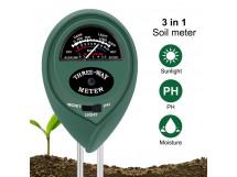 3 in 1 Soil Instrument Gardening Soil Tester Hygrometer / Measuring PH Meter / Illuminance