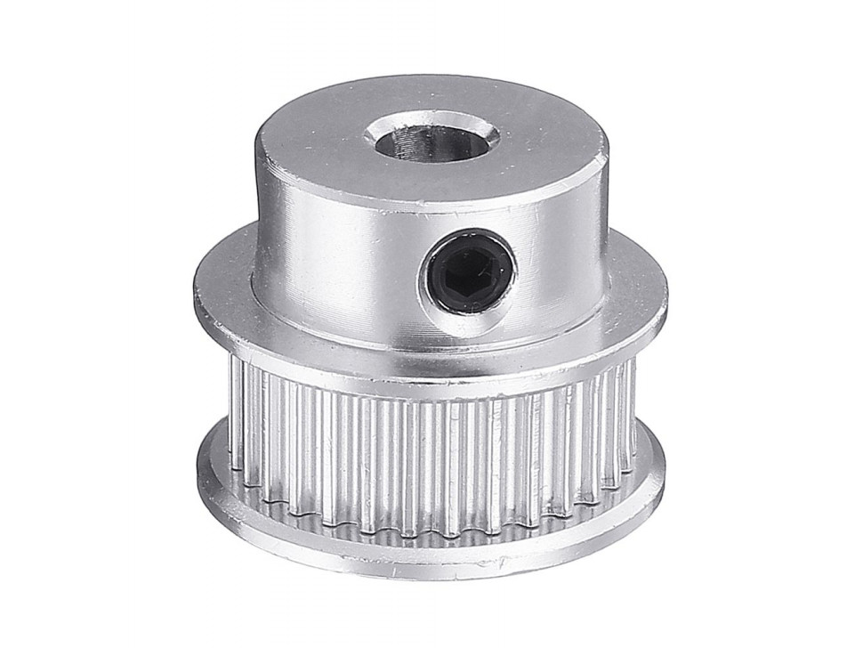 Aluminum GT2 Timing Pulley - 6mm Belt - 30 Tooth - 5mm Bore