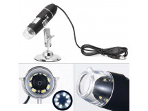 USB Microscope - 0.3M interpolated 1600x magnification / 8 LEDs