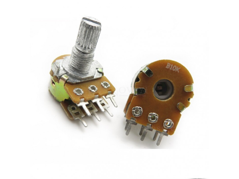Potentiometer 6Pin Shaft WH148 Amplifier Dual Stereo 10K