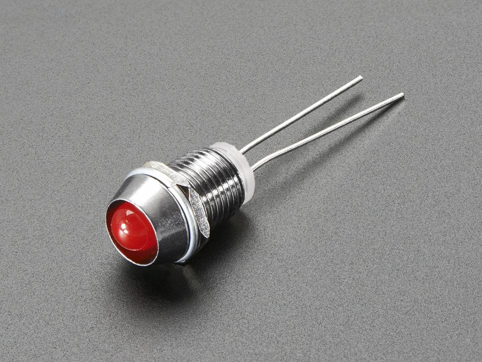 LED Holder 5mm Chromed Metal Narrow Bevel 5PCS