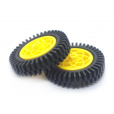 Rubber Wheel Compatible with Servo & DC Motor Pair 80 x 30 mm