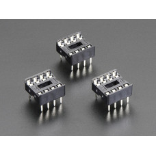 "IC Socket for 8-pin 0.3"" Chips Pack of 3"