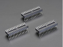 """IC Socket - for 28-pin 0.3"""" Chips - Pack of 3"""