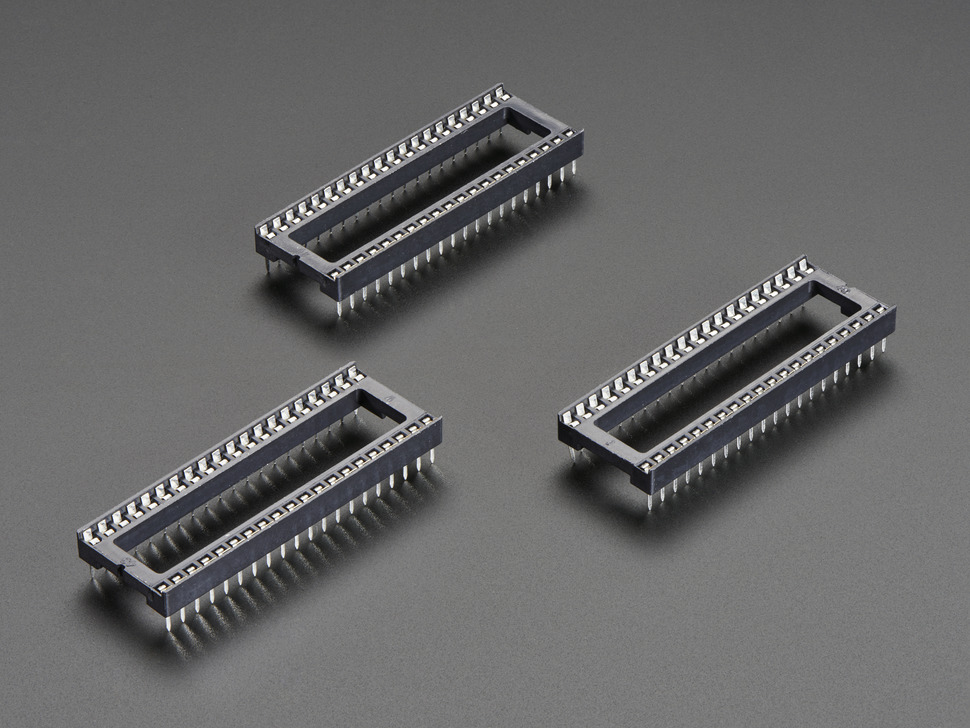 """IC Socket for 40-pin 0.6"""" Chips - Pack of 3"""