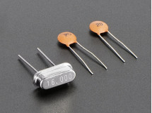 16 MHz Crystal + 20pF capacitors