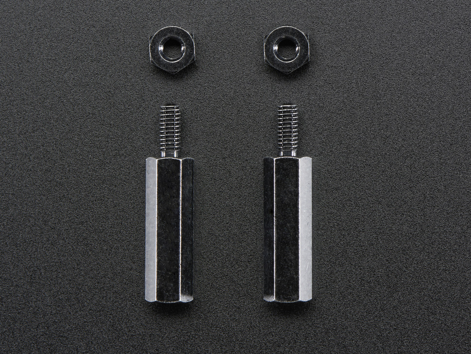 Standoffs Brass M2.5 16mm tall Black Plated