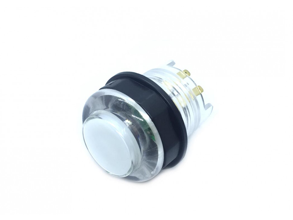 Arcade Button with LED 30mm Translucent White