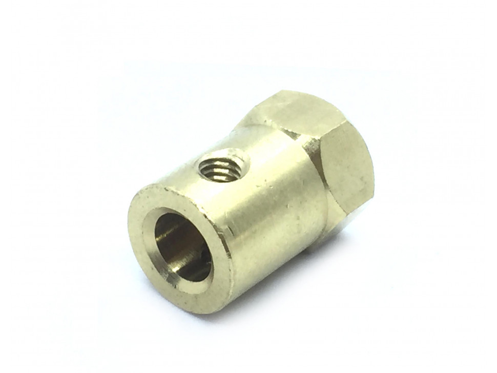 Coupling 6mm Hexagon Brass for Motor Shafts and Wheel