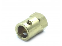 Coupling 8mm Hexagon Brass for Motor Shafts and Wheel
