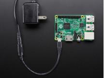 MicroUSB Plug to 5.5 / 2.1mm DC Barrel Jack Adapter