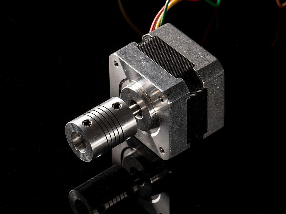 Aluminum Flex Shaft Coupler - 5mm to 10mm for Stepper Motors
