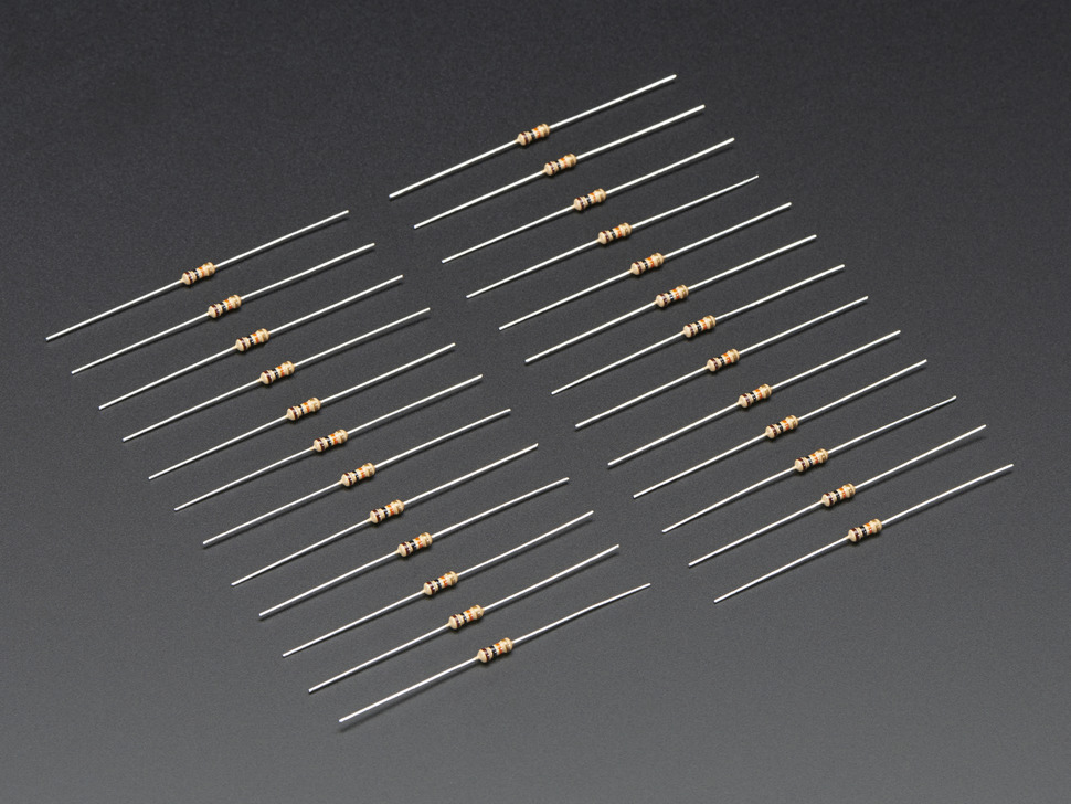 Resistor Through-Hole 10K ohm 5% 1/4W Pack of 10