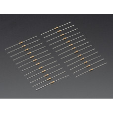 Resistors Through-Hole 10K ohm 5% 1/4W Pack of 25