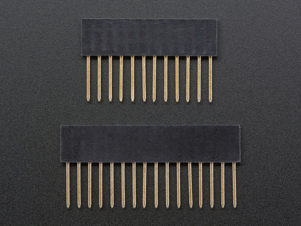 Feather Stacking Headers 12-pin and 16-pin female headers