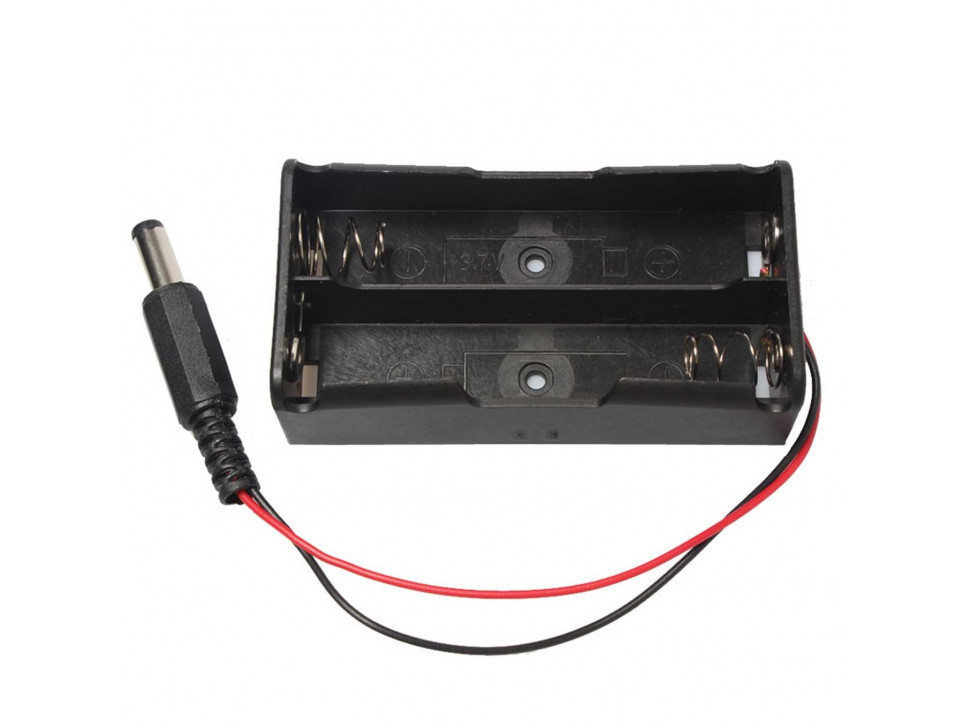 Battery Holder 18650 Dual Slot with DC Plug