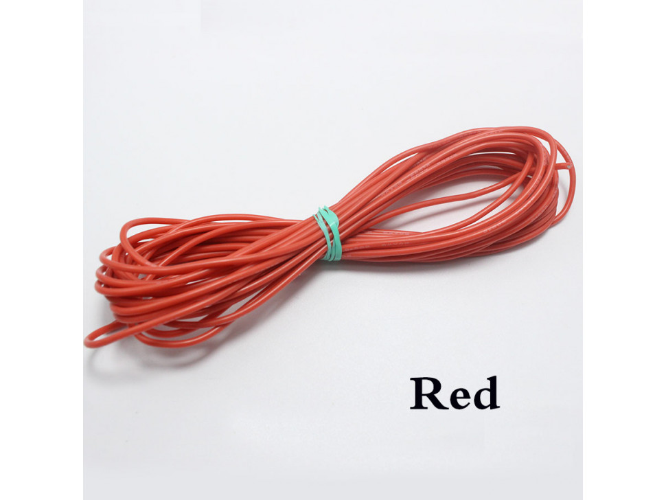 Wire Red 22 AWG Flexible Silicone Cable 0.3mm2 High-Temperature Max 200 Degrees Arduino
