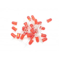 Diffused Red 5mm LED 25 pack