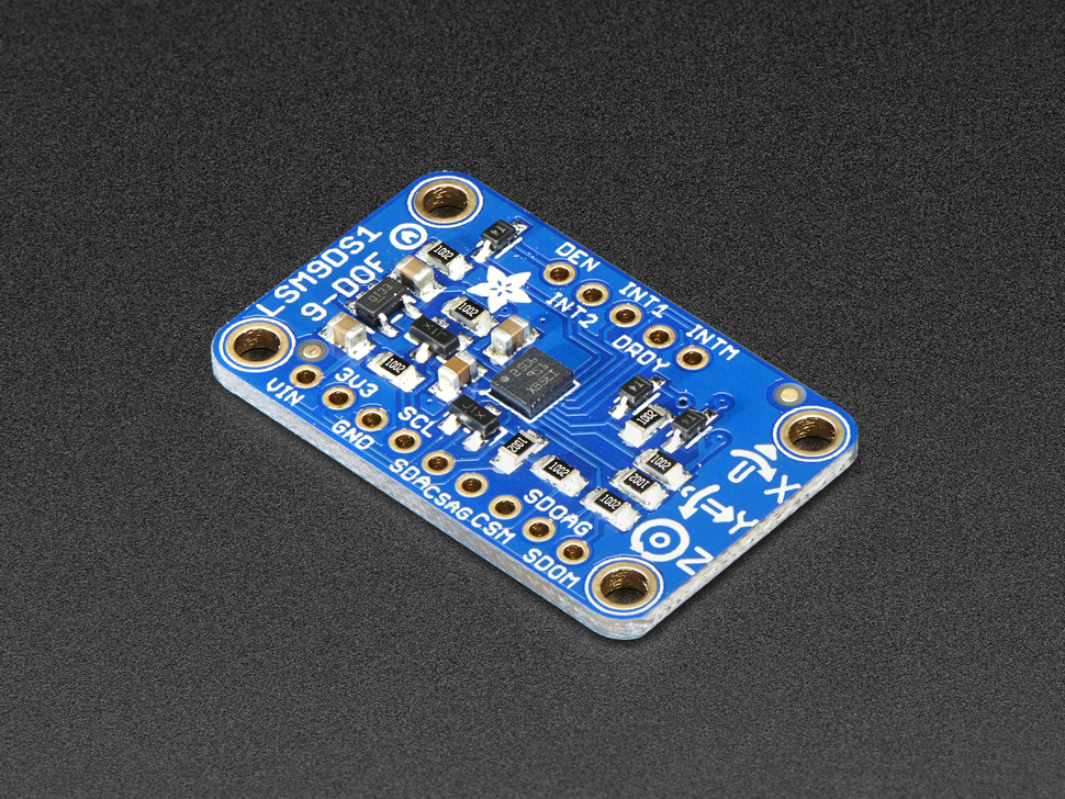 Accelerometer Magnetometer Gyroscope Temp 9-DOF Board LSM9DS1