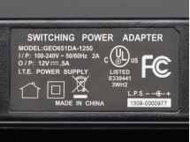 AC / DC 12V 5A switching power supply