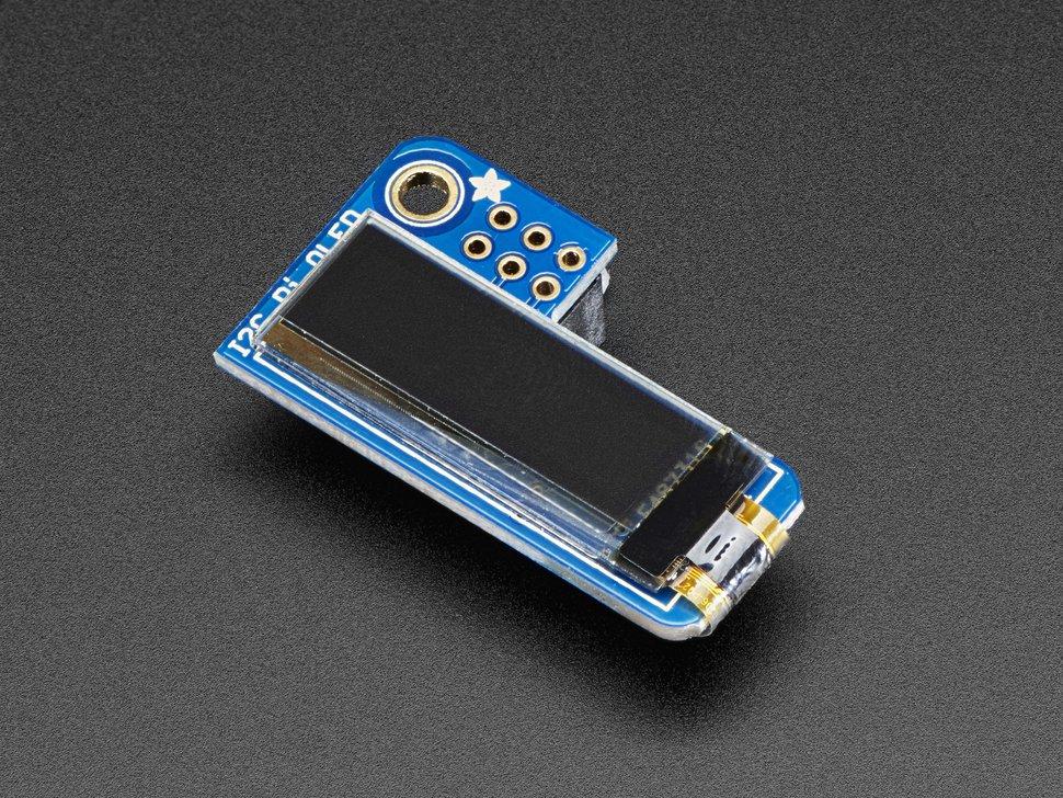 PiOLED 128x32 Monochrome OLED Add-on for Raspberry Pi Adafruit