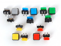 Button Colorful Square Tactile Switch Assortment 15 pack