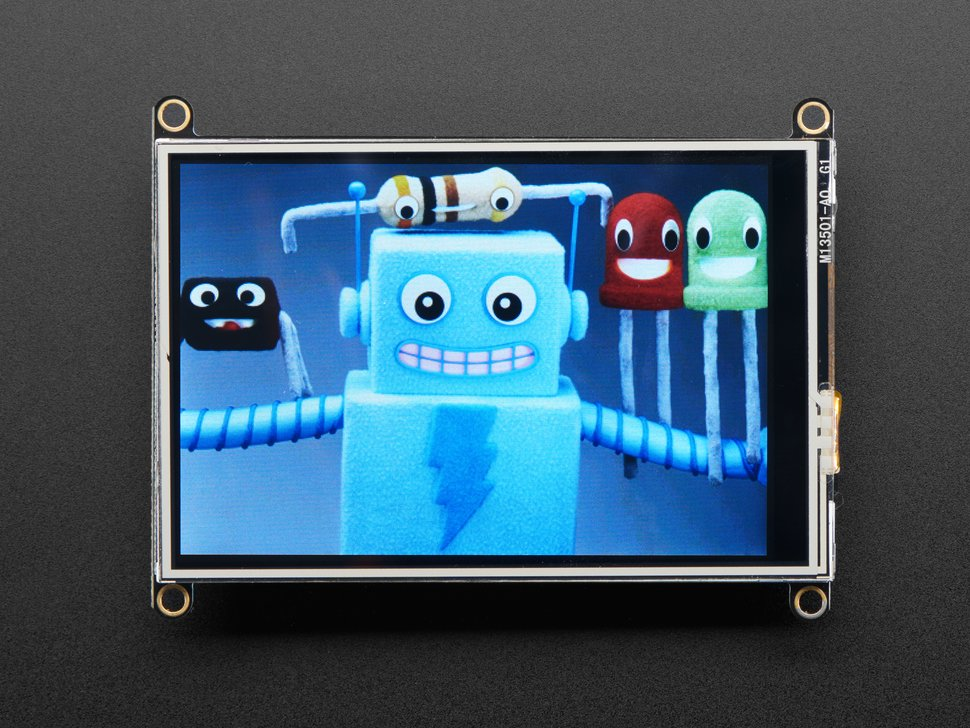 """TFT FeatherWing 3.5"""" 480x320 Touchscreen for Feathers Adafruit"""