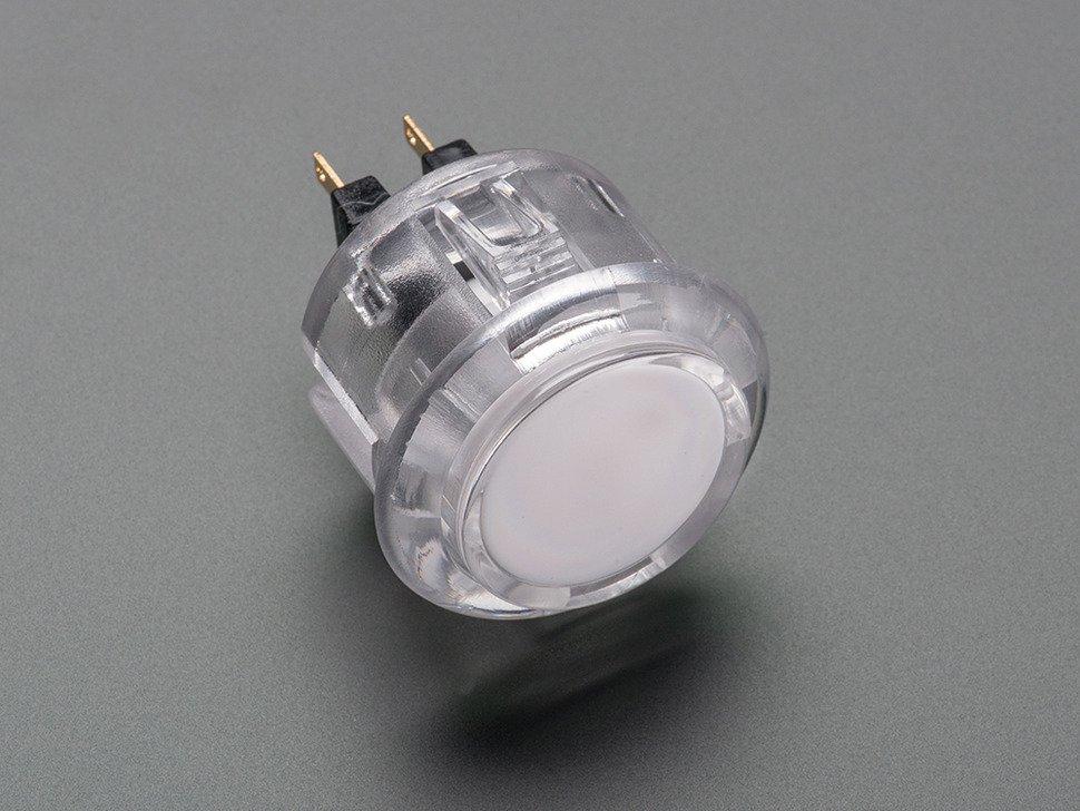 Arcade Button 30mm Translucent Clear