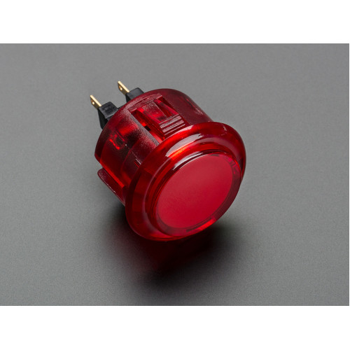 Arcade Button  30mm Translucent Red