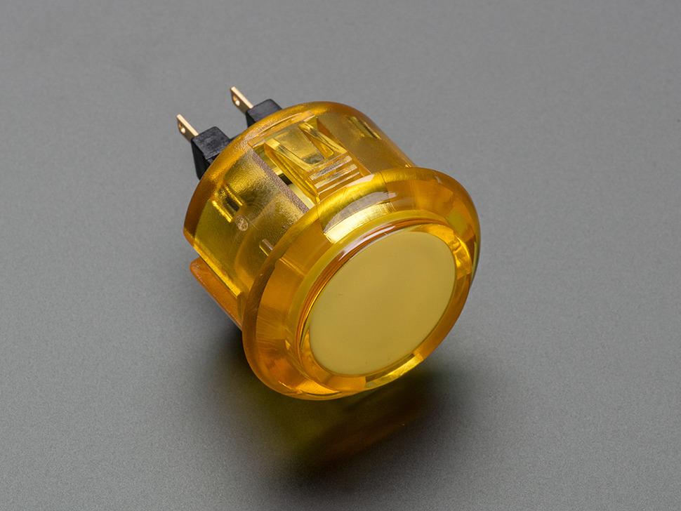 Arcade Button 30mm Translucent Yellow