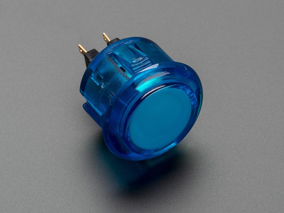 Arcade Button 30mm Translucent Blue