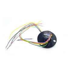Slip Ring with Flange 22mm diameter 6 wires max 240V @ 2A