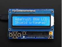 LCD Shield Kit 16x2 Character Display Only 2 pins used! - BLUE AND WHITE