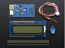 USB+Serial Backpack Kit with 16x2 RGB backlight positive LCD Black on RGB