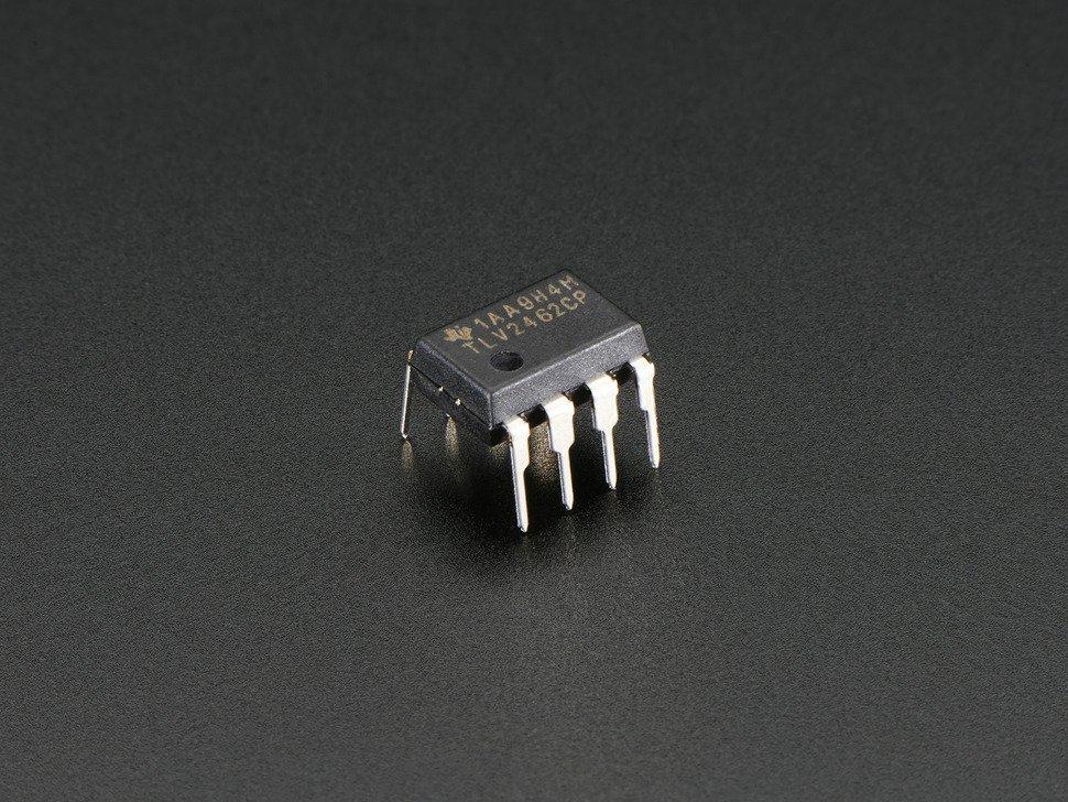Op Amp Dual Rail-to-Rail 2.7-6V power @ 80mA output TLV2462