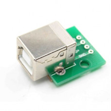 USB Type-B Connector Breakout Board