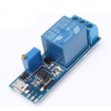 Relay Adjustable Timer Micro USB Power Module