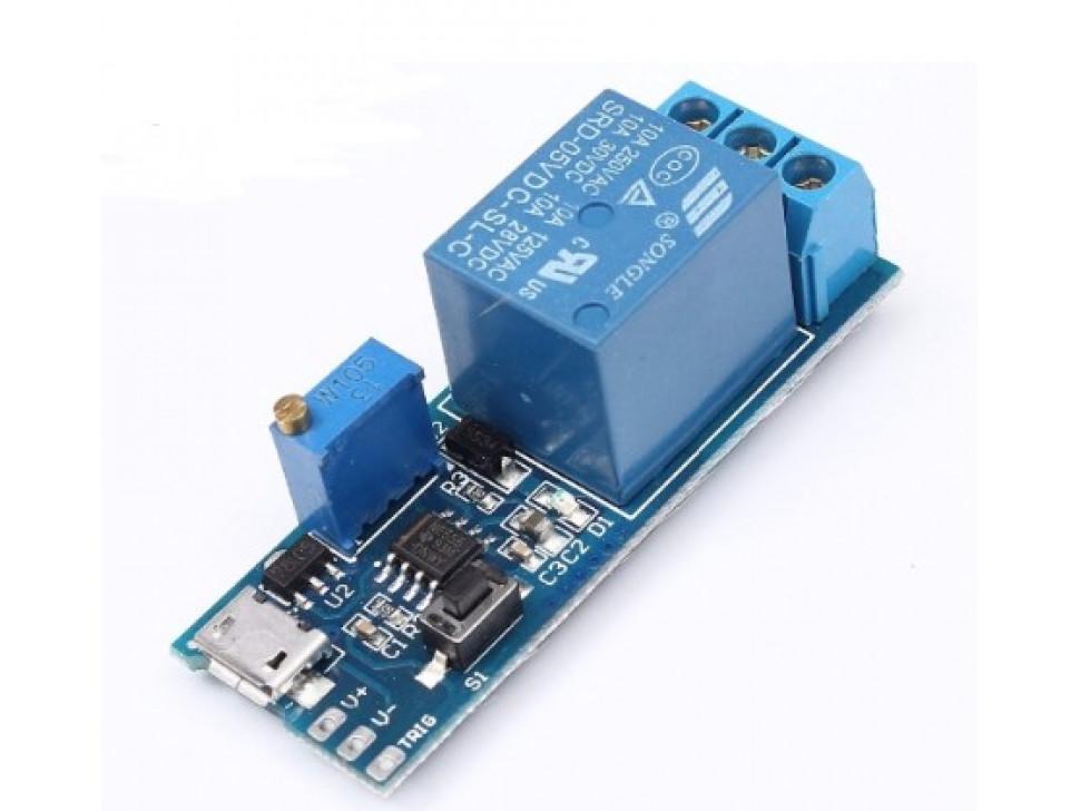 Relay Adjustable Timer Micro USB Power Module
