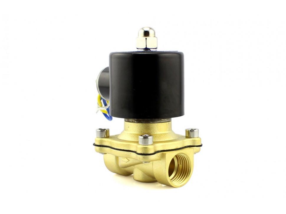 Solenoid Valve Brass Liquid 12V 1/2 NPS